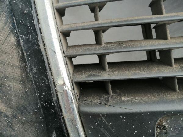 Бампер передний Ауди A4 (2005-2007) 8E0807437AHс отверстиями под омыватель с решёткой 8E0853651